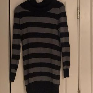cowl neck long sleeve sweater dress